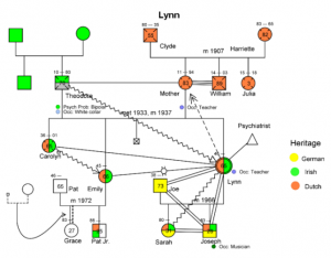 family genogram example lynn ex