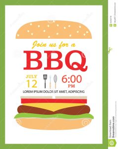 family reunion invites bbq party invitation card hamburger cooking tools vect