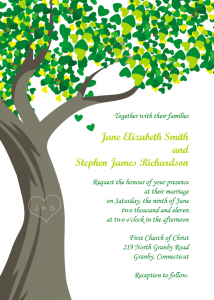 family reunion invites tree wedding invitation
