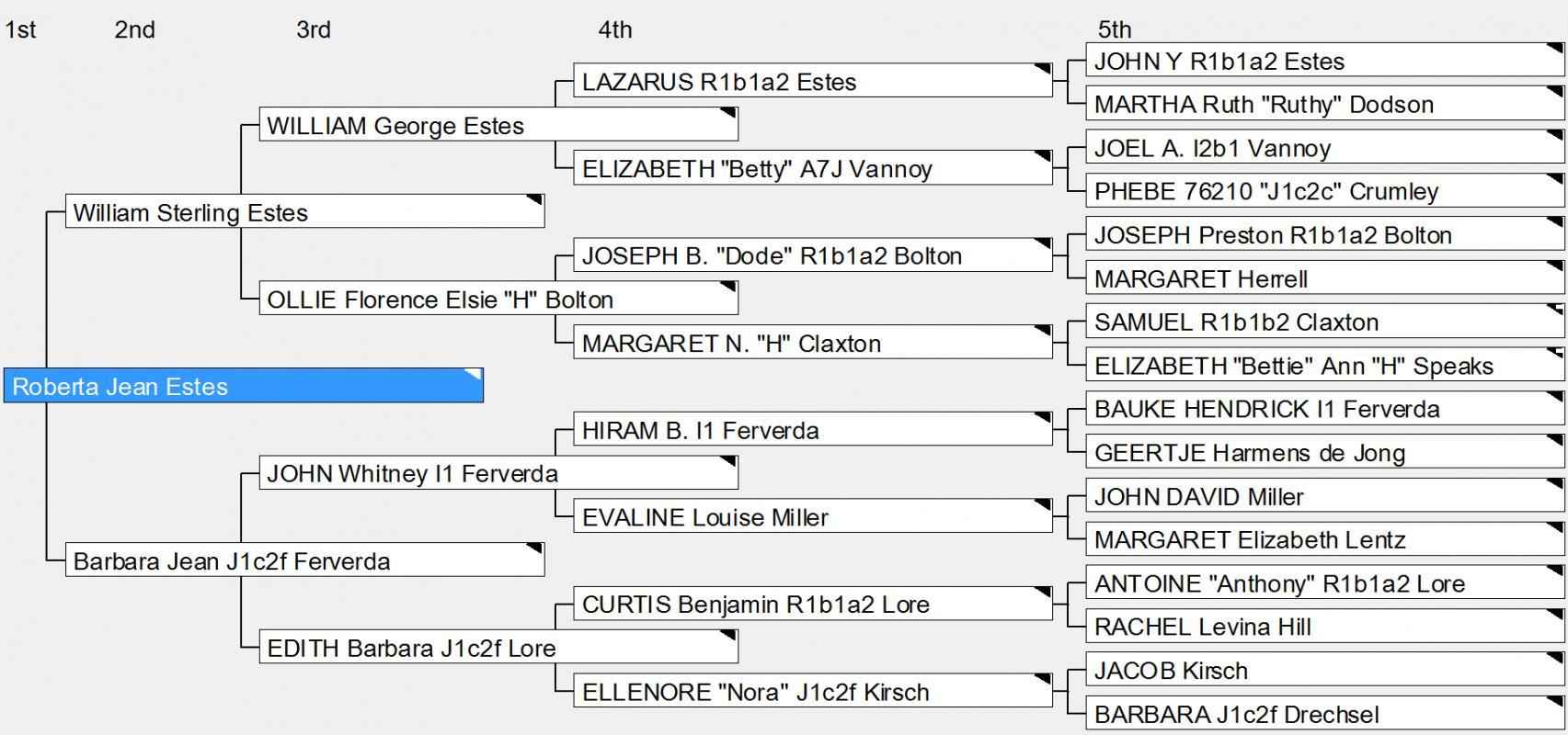 family tree excel