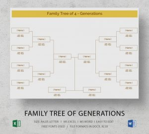 family tree excel two sides family tree generations