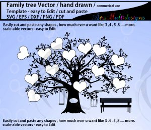 family tree outline beaffbcdbabec