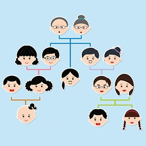 family tree outline family tree chart small