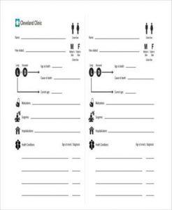 family tree pdf family tree medical history form