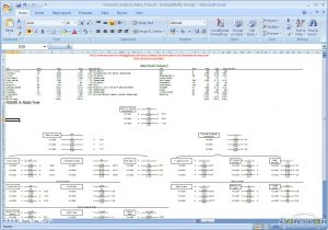 family tree template excel financial analysis ratio tree