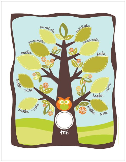 Image Of Family Tree Craft Ideas For Preschoolers Family Tree