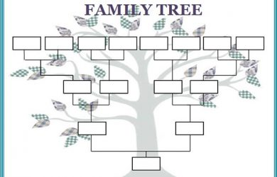 family trees format blank family tree template