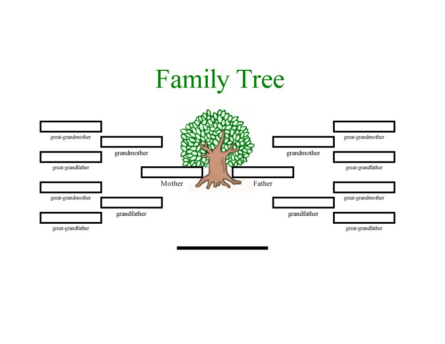 Family Trees Format Template Business
