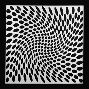 famous black and white paintings op art