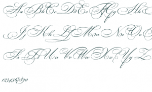 fancy cursive letters bickhamscriptfancy font preview