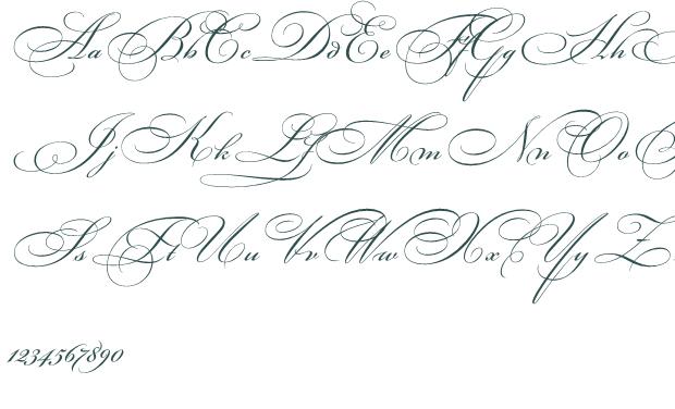 fancy cursive letters