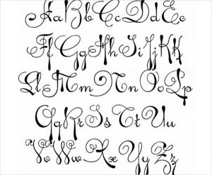 fancy cursive letters fancy cursive small letters