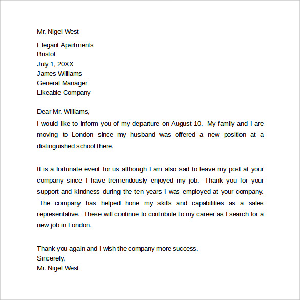 Farewell Letter To Colleagues | Template Business