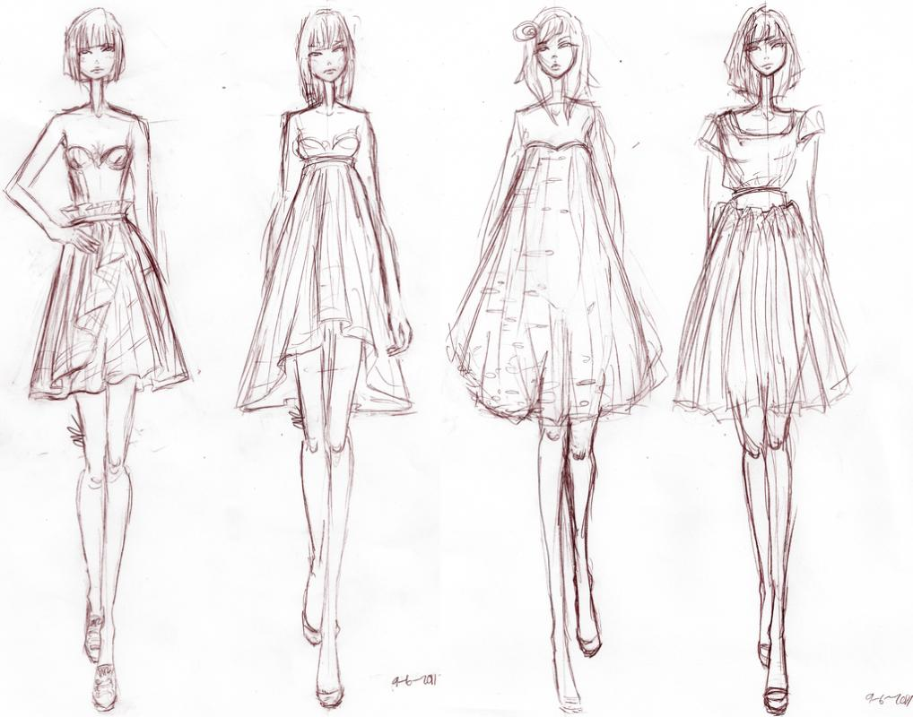 How do you sketch fashion designs 81