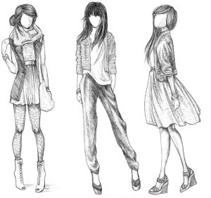 fashion design sketches w