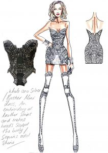 fashion designer sketches high fashion dress sketch beyonce versace opening