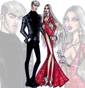 fashion designer sketches newyearglam
