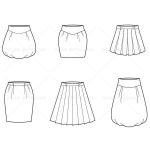 fashion designer sketches skirt grande