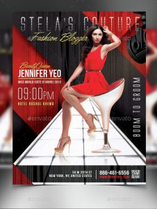 fashion show flyer elegant fashion show flyer