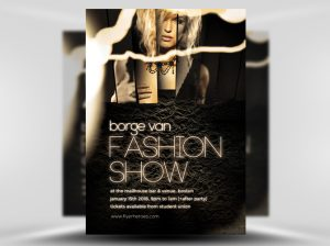 fashion show flyer fashio show flyer template