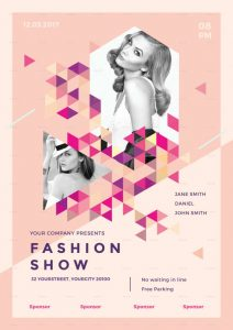 fashion show flyer fashion show event flyer template