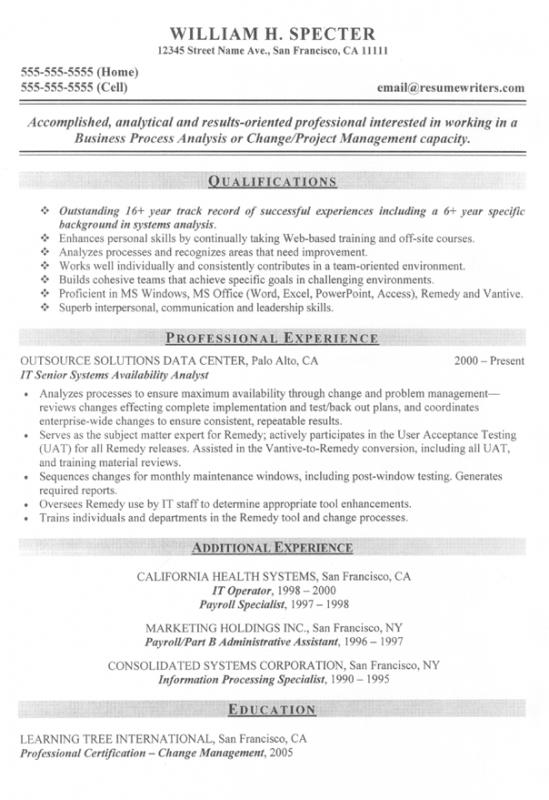 federal government resume