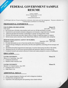 federal resume sample federal resume format online