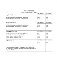fee schedule template fees