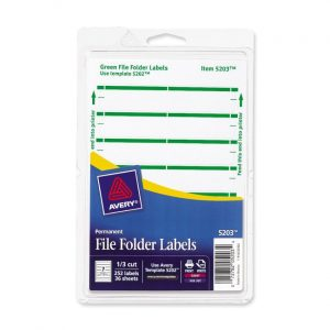 file folder labels template large