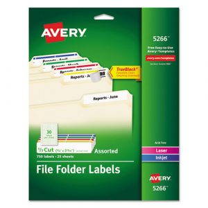 file folder labels template