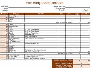 film budget template film budget spreadsheet x