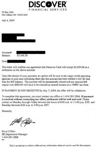 financial hardship letter credit card debt settlement letter samples