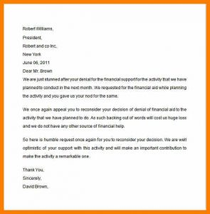 financial hardship letter financial assistance letter financial aid appeal letter sample