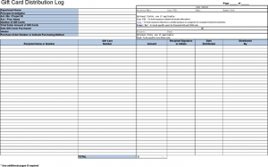 financial hardship letter gift certificate tracking log