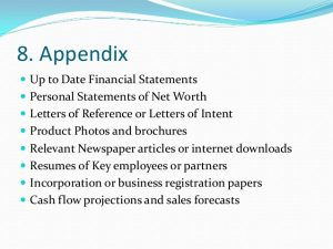financial projections example business plan writing power point