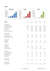 financial projections template template business