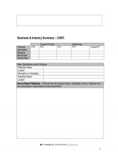 financial report template strategic account plan template