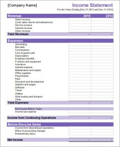 financial statement template income statement1