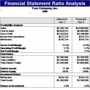 financial statements templates financial statement ratios analysis template