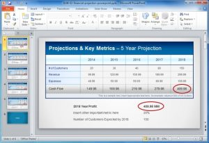 financial statements templates financial projections and key metrics template for powerpoint