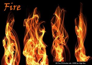 fire brush photoshop fire ps brushes abr vol