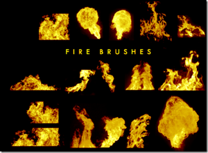 fire brush photoshop image