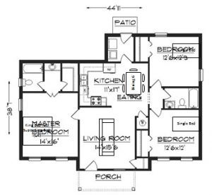 fire escape plan template floor plan with furniture