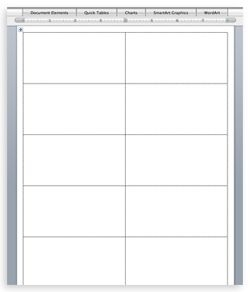 flash card template word