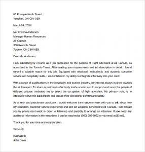 flight attendant cover letter simple flight attendant cover letter