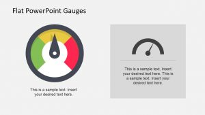 flow chart templates flat powerpoint gauges