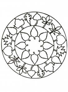 flower coloring pages pdf mandala flower