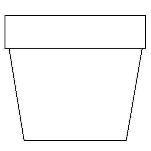 Handy image in printable flower pot