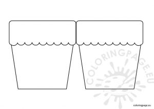 flower pot template flower pot card template