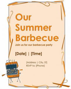 flyer templates word barbecue flyer template